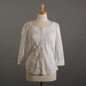 [Diane Von Furstenberg] Cotton 3/4 sleeve blouse